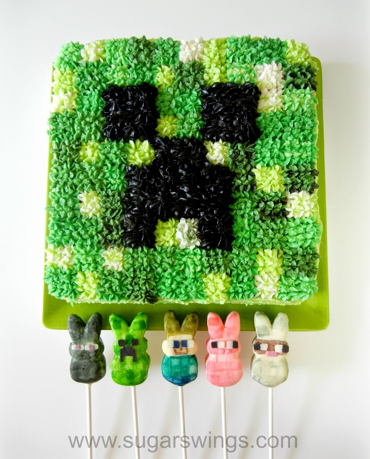 Sugar Swings Serve Some Minecraft Creeper Cake And
