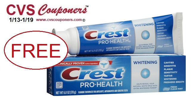 http://www.cvscouponers.com/2019/01/free-crest-pro-health-toothpaste-cvs.html