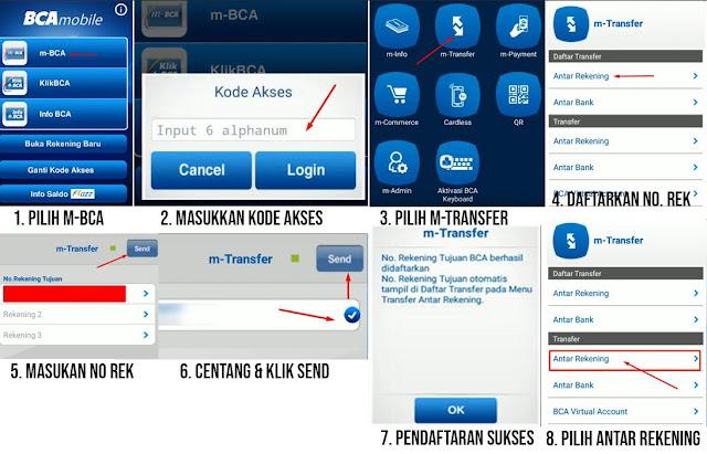 cara transfer lewat bca mobile