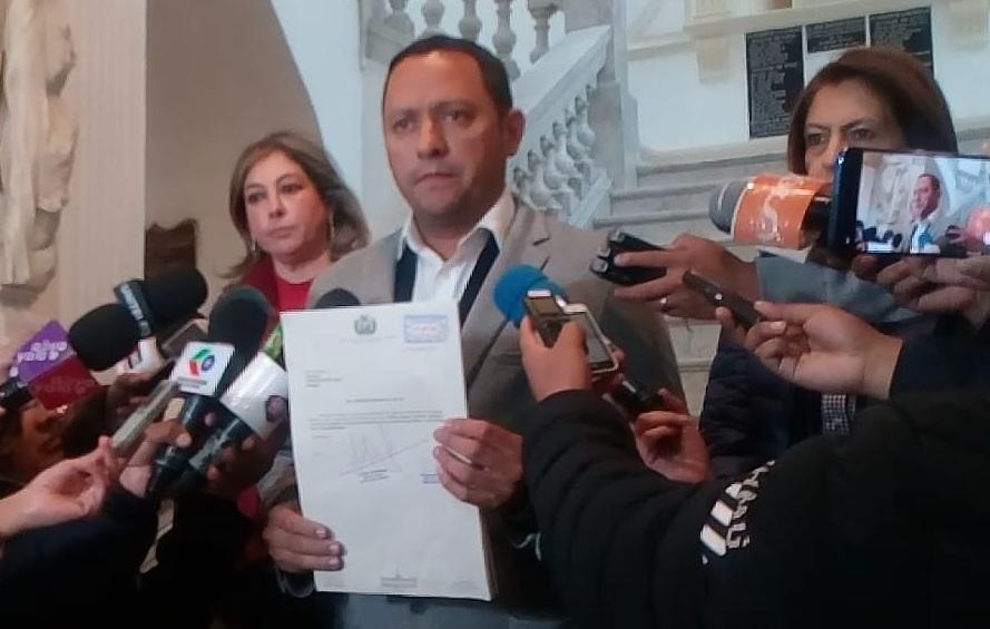 Ginna Torrez y Luis Felipe Dorado en la presentación del proyecto ley a favor de la Chiquitanía / PRENSA UN