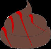 Rote Schlieren