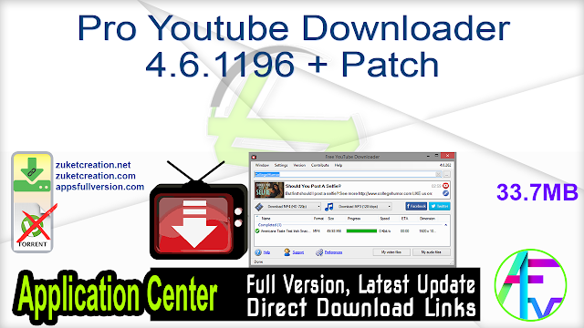 Pro Youtube Downloader 4.6.1196 + Patch