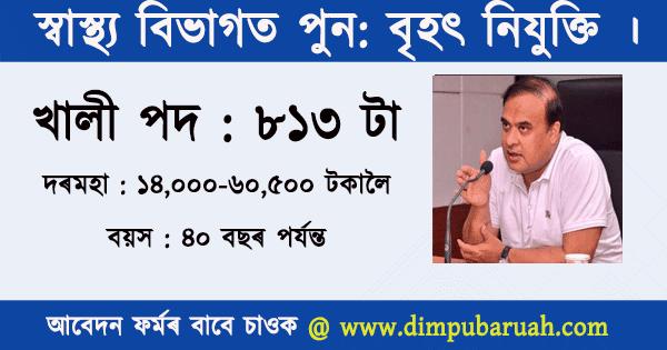 Health Department Jobs in Assam 2020