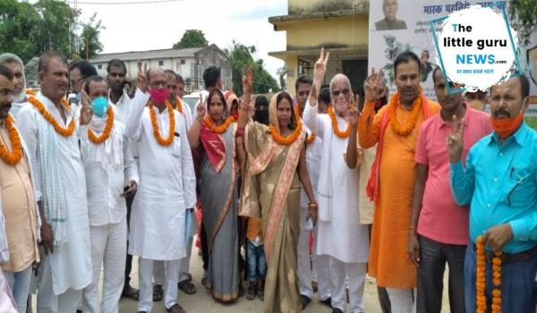 उच्चन्यायालय के आदेश पर बनकटवा में प्रखंड प्रमुख का हुआ चुनाव, एकतरफा वोट से जीतीं गीता देवी