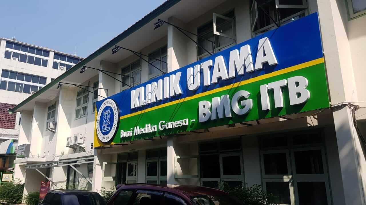Plang klinik Bumi Medika Ganesa - ITB
