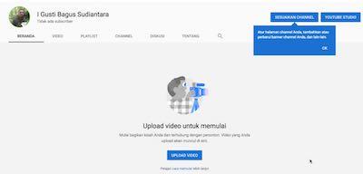Membuat Channel Youtube Baru Untuk Akun Pemilik Tanpa Channel