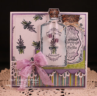 Stamps - Our Daily Bread Designs Lavender, Joy in a Jar, Apothecary Bottles, ODBD Custom Apothecary Bottles Die, ODBD Antique Labels & Border Dies