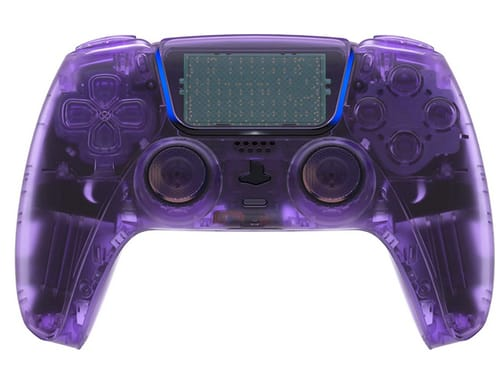 eXtremeRate Clear Atomic Purple Cover for PS5 Controller