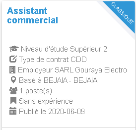 Assistant commercial