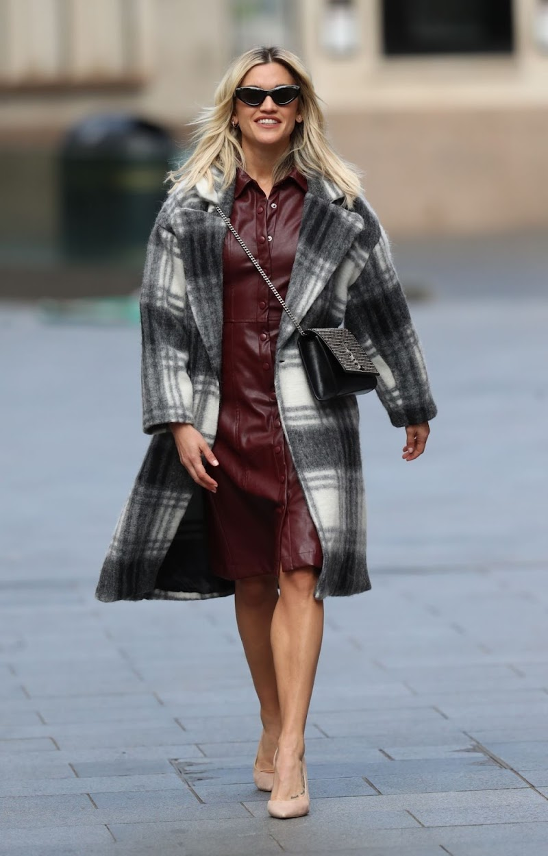 Ashley Roberts Spotted At Heart Radio in London 1 May-2020