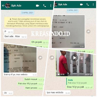 Pintu Garasi Besi Ini Dia Hasil pemasangan di Rumah Bpk Ade di Serang Banten