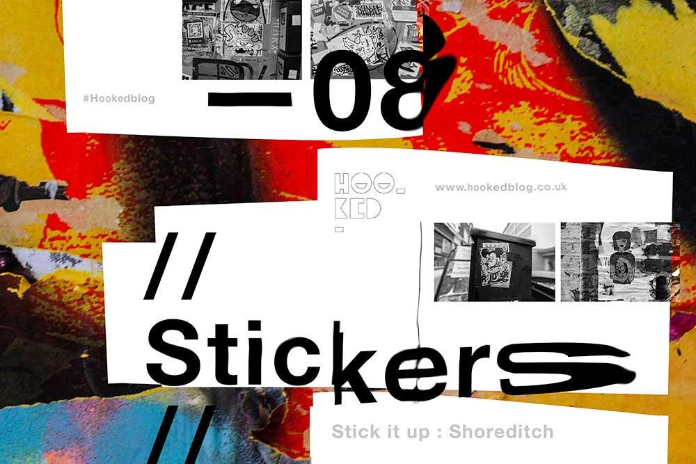 Shoreditch Street Art - Sticker Art in London, UK