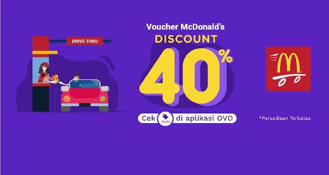 #Promo Voucher McDonald's 100 Ribu Hanya Bayar 60 Ribu Pakai OVO Cash / OVO Point (s.d 31 Desember 2020)