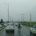 Trânsito congestionado na ponte Igapó sentido Zona Sul