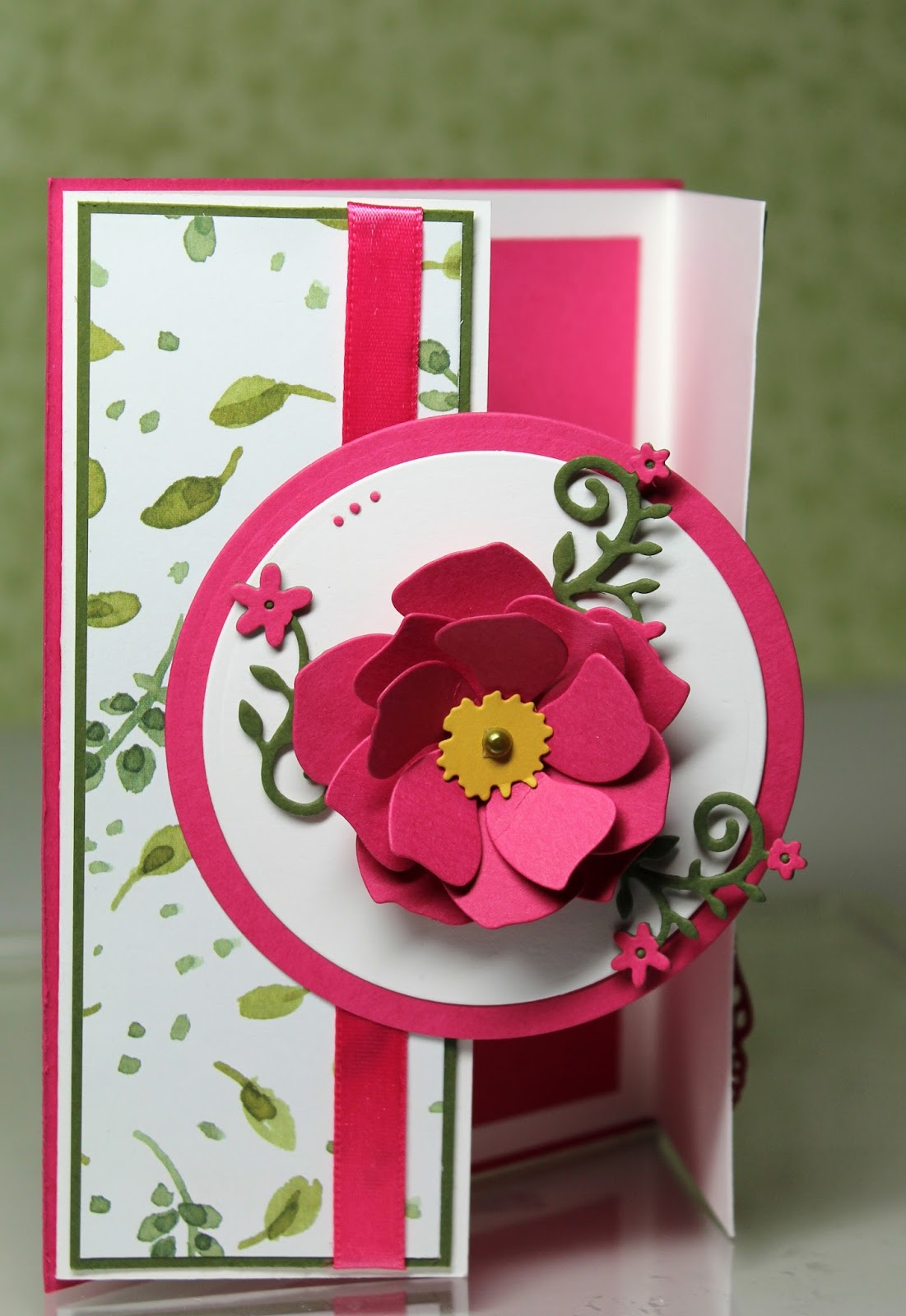 the charmed life gate fold flower card