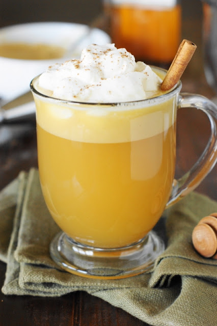 Honey Hot Buttered Rum ~ Loaded with the flavors of spiced rum, warm butter, and the sweetness of honey, it's the perfect comforting cocktail for holiday and Winter sipping.   www.thekitchenismyplayground.com
