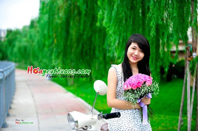 Hình ảnh tự chụp để giới thiệu hoa