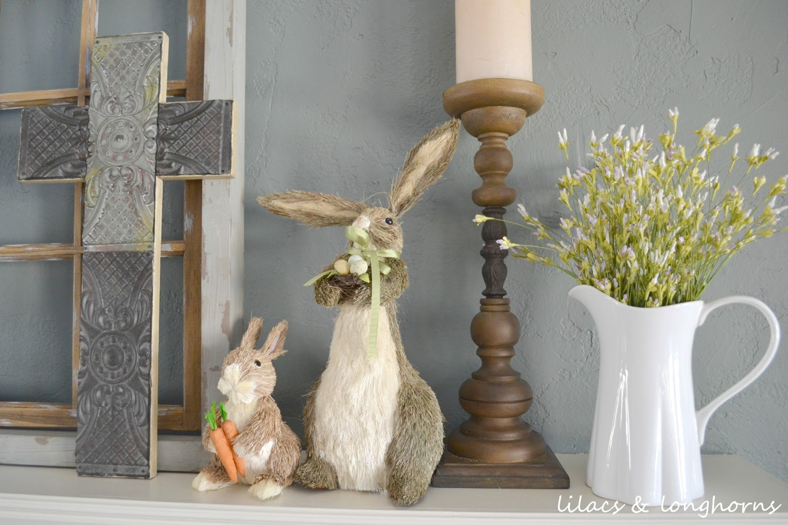 A Little Easter Decor Lilacs And Longhornslilacs And