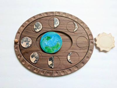 wooden moon phase puzzle from Mirus Toys