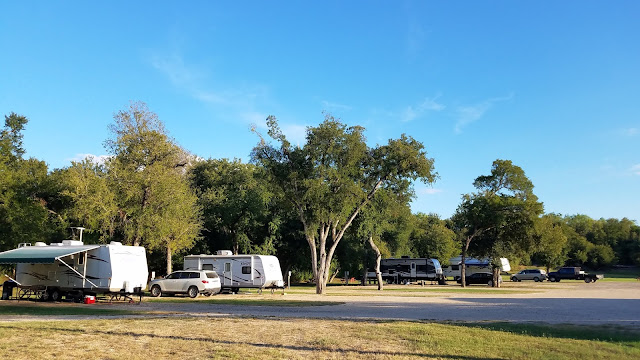 RV's backed into FHU Sites with trees