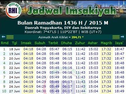 Download Jadwal Imsakiyah Puasa Ramadhan  M Seluruh Wilayah Di Indonesia