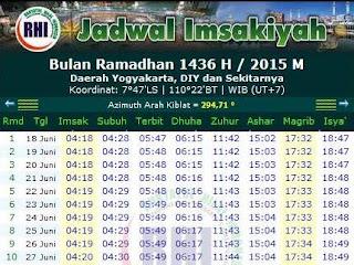 Download Jadwal Imsakiyah Puasa Ramadhan 1439 Hijriyah/ 2018 Masehi Abadi di Indonesia