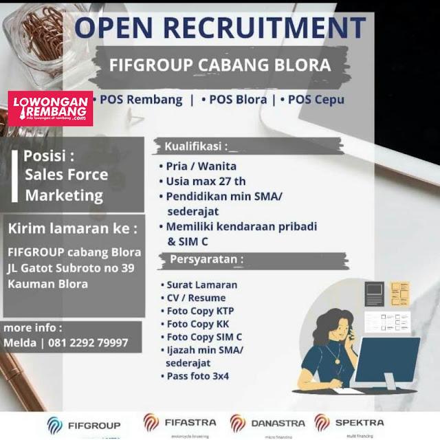 Lowongan Kerja Sales Force Marketing FIFGroup Cabang Blora