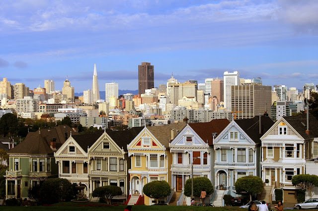 San Francisco, California, USA, painted ladies