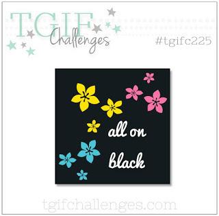 #tgifc225 all in black challenge entry by Nicole Steele The Joyful Stamper