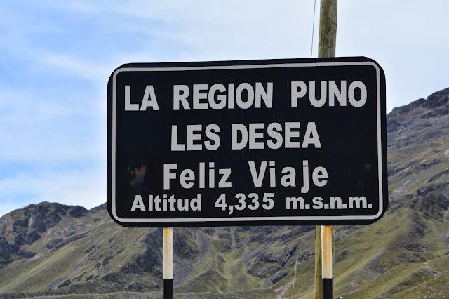 Peru Puno 4335 m yükseklik
