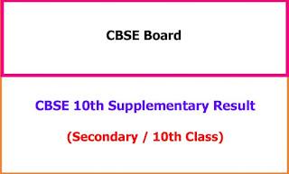 CBSE 10th Supplementary Exam Result 2021