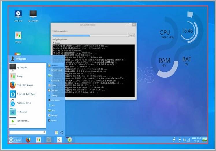 ChaletOS  : Ένα ξεχωριστό  linux  που μοιάζει με windows