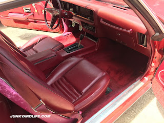 The Mayan Red Firebird has red seats, red dash, red carpet. You get the picture? Red, red, red, on red.