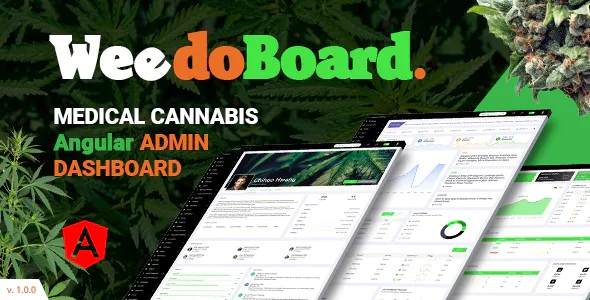 Best Cannabis Dashboard Angular Template