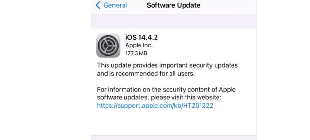 Apple Rolls Out iOS 14.4.2 and iOS 12.5.2 To Fix Critical Security Vulnerability