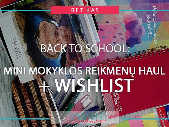BACK TO SCHOOL: MINI MOKYKLINIŲ REIKMENŲ HAUL + WISHLIST