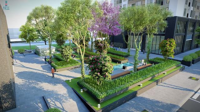Nội khu của dự án Rose Town Ngọc Hồi