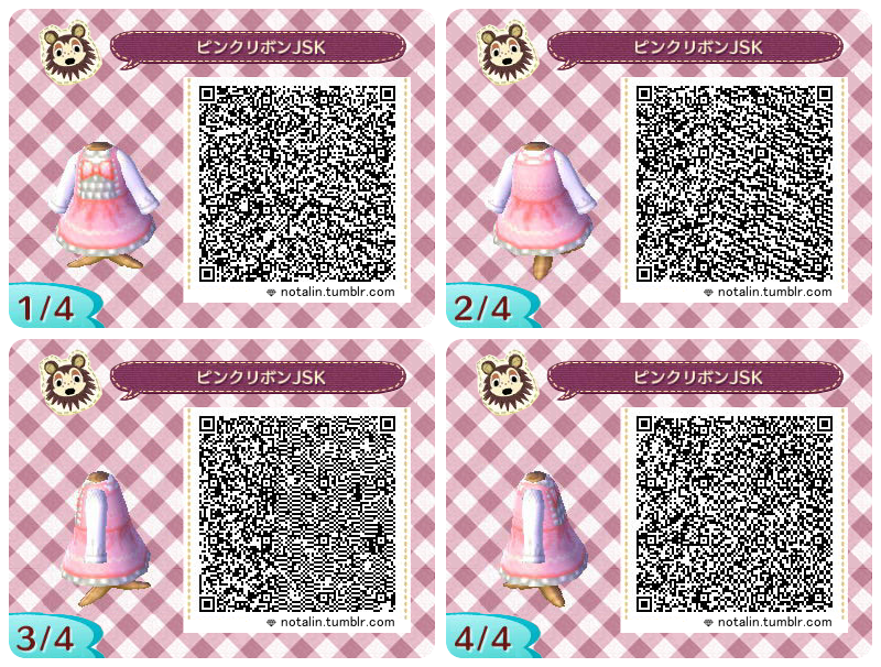 Pink Lolita Dresses QR Codes for Animal Crossing  New LeafQr Codes Animal Crossing New Leaf Dresses