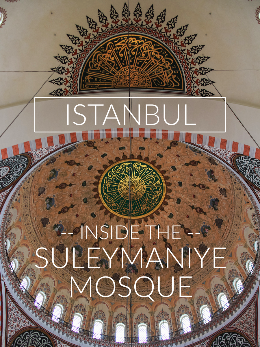 step inside the Süleymaniye Mosque in Istanbul, Turkey: a stunning masterpiece of the influential architect Sinan, overlooking the city's hills and blue waters of the Bosphorus.