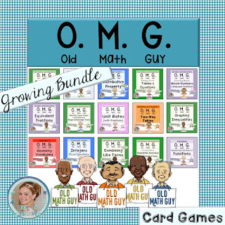 And if you and your students love this game as much as we do, I've made an affordable {growing} bundle that contains all of my current and future Old Math Guy games.