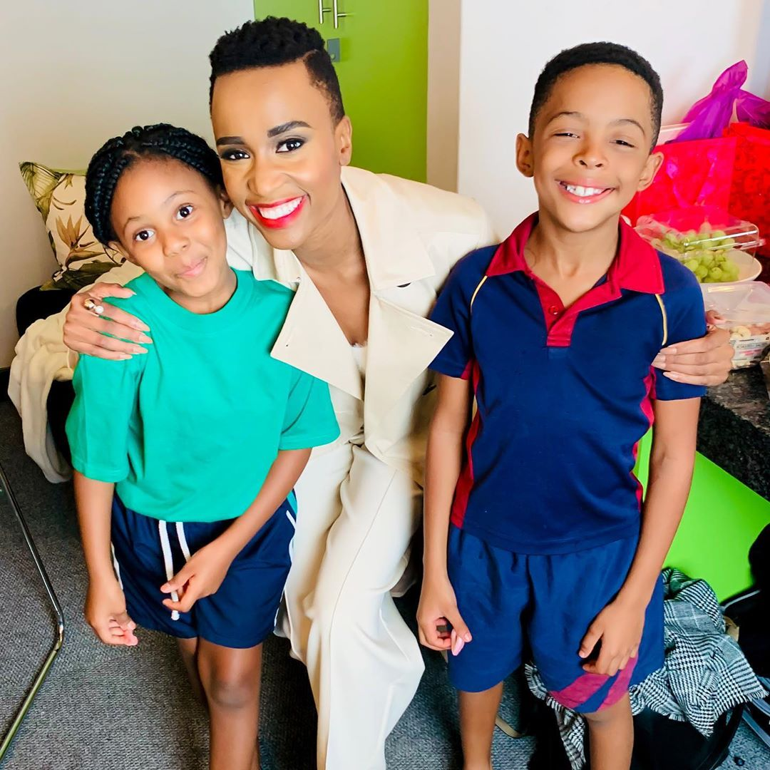 Bassie's Cute Kids Meet Miss Universe Zozibini Tunzi and Their Faces Say It All.