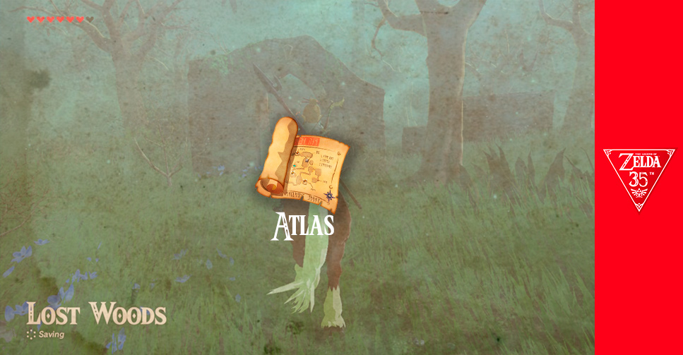 O Atlas de Hyrule: Lost Woods ao longo dos anos