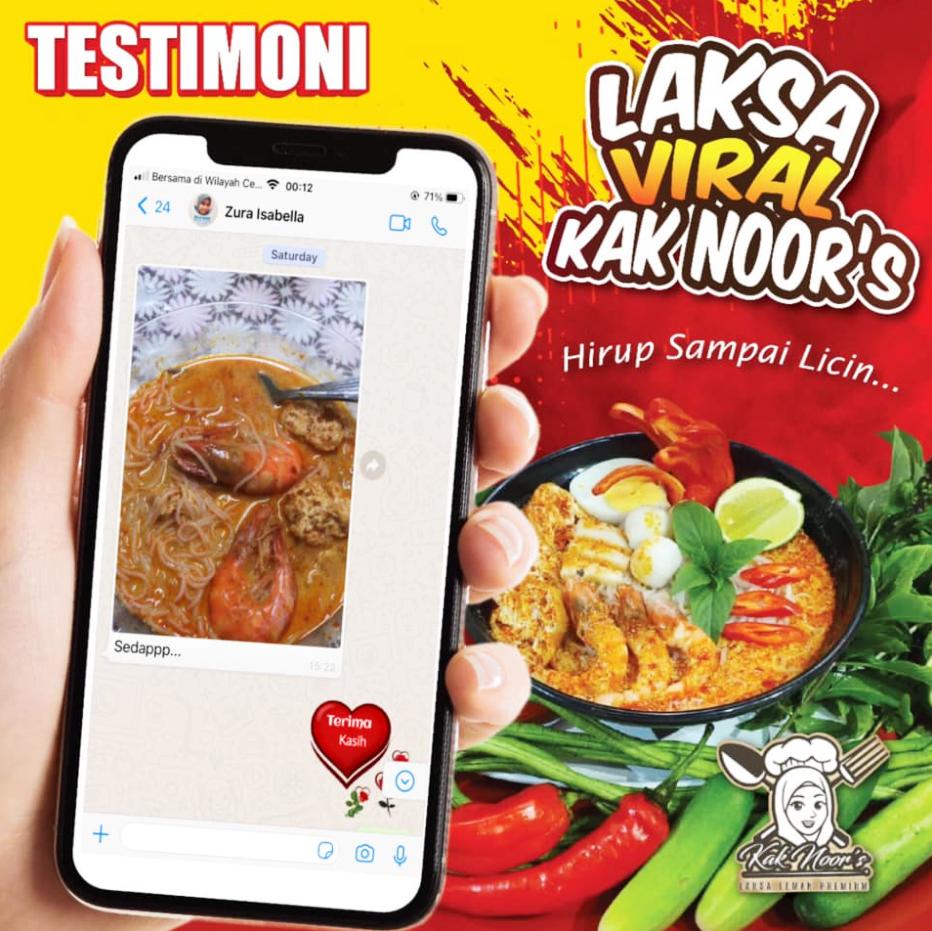 Laksa Viral Kak Noor's