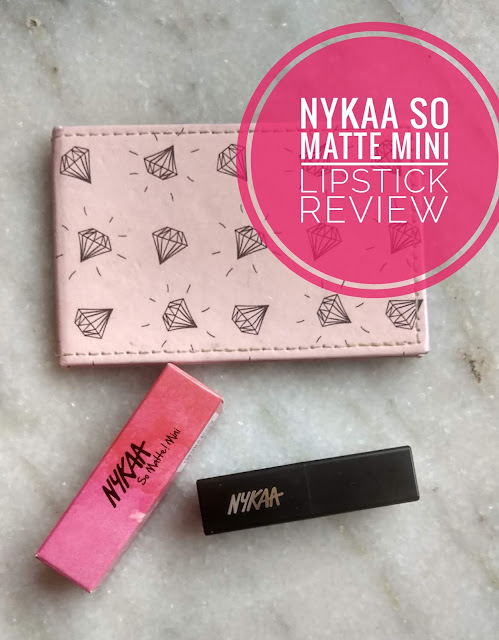 Nykaa So Matte! Mini Lipstick 20 M Caramel Margarita Review ,Swatches ,Price