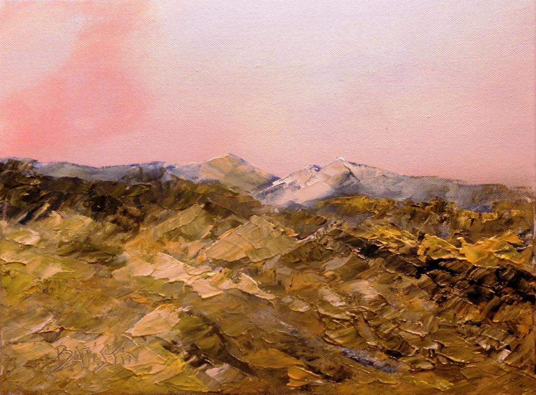 """Tableau Provence """"La Bernarde"""" Alpes-de-Haute-Provence Peinture acrylique sur toile par Batistin"""
