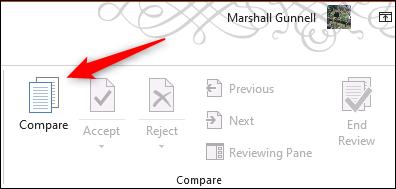 قارن الخيار في Microsoft PowerPoint