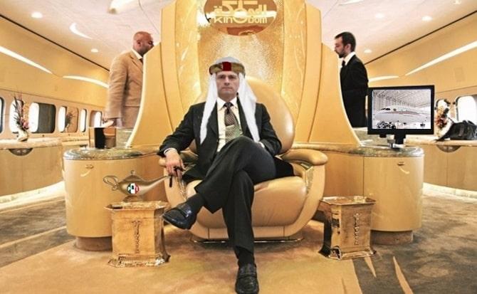 Vuelos, lujos, millonarios