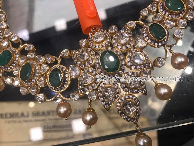 Pachi Work Emerald Choker