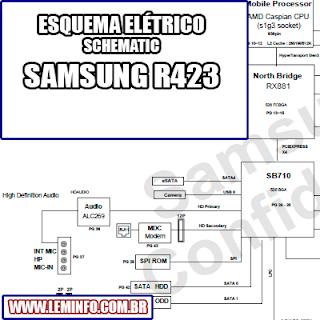 Esquema Elétrico Notebook Laptop Samsung R423 Manual de Serviço  Service Manual schematic Diagram Notebook Laptop Samsung R423    Esquematico Notebook Laptop Samsung R423