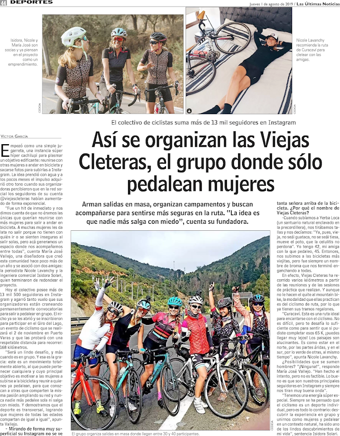 Así se organizan lasViejas Cleteras, el grupo donde sólo pedalean mujeres